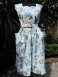 1950's Blue and white floral vintage sundress. **SOLD**